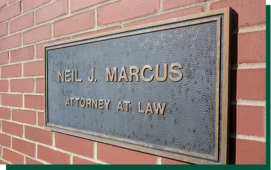 Photo of Neil J. Marcus - Attorney at Law Sign